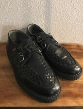 T.U.K. Creepers Low Size 11 Womans Size 9 Mens Black. Gently Used Shape!
