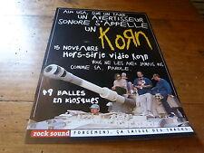 KORN - Publicité de magazine / Advert AVERTISSEUR SONORE !!!
