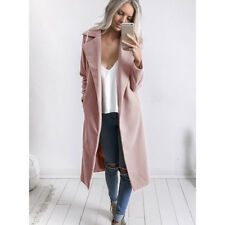Womens Winter Warm Wool Lapel Long Coat Trench Parka Jacket Overcoat Outwear USA