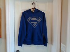 Men's DC Comics Superman Logo Pull Over Hoodie Blue Small