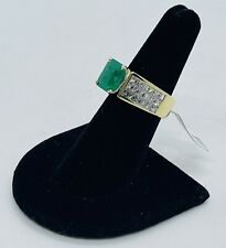 Vintage (1960s) 18K Natural Colombian Emerald (2.7 ct.) & Diamond (2.9 ctw) Ring
