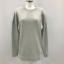 Acne Studios 'Lorena' Cotton Sweatshirt UK 12 Grey Zip Detail Relaxed Fit 281285
