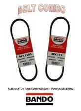 00-01 95-97 MAXIMA V6 30L BANDO OEM  Drive Belt Kit 2Pc ALT+AC+PS 4PK775 6PK1105