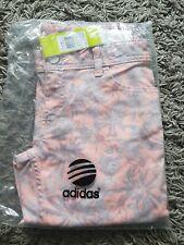Adidas Neo Jeans Pink Grey Floral Bnip Size 27W 32L Skinny Fit
