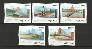 VIETNAM 2019 BRIDGES RIVER COMP. SET OF 5 STAMPS IN MINT MNH UNUSED CONDITION
