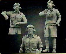 1/35 Resin Figures WWII British Tank Crew North Africa Model Kit 1:35 3 Figures