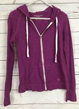 American Eagle Outfitters Small Purple Womens Full Zip Hooded Jacket