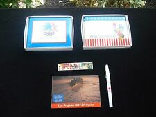 Vintage 1984 Olympic Photo Album(2) /Pen/ Postcards/ Stamps