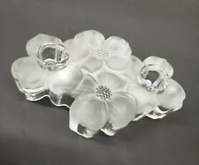 Colony Glass Dogwood Clear Frosted Taper Candlestick Holder Wedding Centerpiece