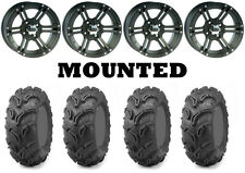 Kit 4 Maxxis Zilla Tires 26x9-12/26x11-12 on ITP SS212 Matte Black Wheels SRA