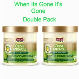 African Pride Olive Miracle Anti-Breakage Formula Leave In Conditioner 425 g / 1