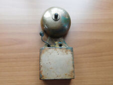 """Vintage School Fire Warning Bell Cast/Brass 7"""" High Electric Recess Schools Out"""