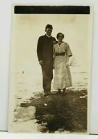 RPPC Young Couple Having Picture Taken c1915 Postcard H11