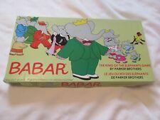 VINTAGE 1978 BABAR THE KING OF ELEPHANTS BOARD GAME JEU PARKER LE JEU DU ROI DES