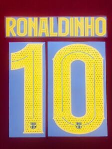 2019/20 FC BARCELONA #10 RONALDINHO CHAMPIONS LEAGUE SOCCER NAME SET