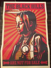 Original Black Hills Are Not For Sale Paste Up Obey 2012 Fairey Limited to 1000