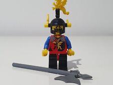 LEGO DRAGON KNIGHTS BLACK RED LEGS BLACK DRAGON HELMET YELLOW PLUMES cas018 6043