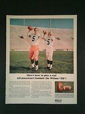 1966 Paul Hornung Packers Wilson Football Sports Memorabilia Promo Photo Ad