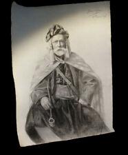 [ORIENTALISME] SOYER (Jeanne) - [Grand dessin à la mine de plomb]. 1896. 65 x 48