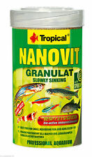 TROPICAL NANOVIT GRANULAT 100ml Sinking granules for small aquarium fish