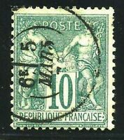 "FRANCE STAMP TIMBRE YVERT N° 65 "" SAGE 10c VERT TYPE I "" OBLITERE TB"
