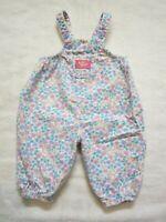 Vintage Oshkosh B'Gosh Vestbak Flannel, Baby Shortalls Bubble 6-9 months