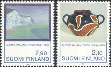 Finland 1991 Alfred Finch/Artist/Art/Paintings/Painter/Ceramics 2v set (n19580t)