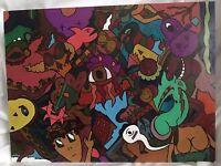 Original Graffiti/Pop Art Painting,Abstract, Signed,Rare,W/COA,18x24,Tabsch