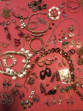 Fifty Plus Pieces Of Mixed Vintage And  Used Fashion Jewelry