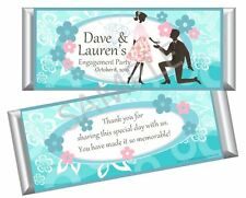 Engagement, Wedding, Bridal Shower Candy Bar Wrappers - Party Favors - Set of 12