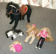 "Only Hearts Club Lot 3 Dolls & 2 Horses Dolls 9"" & 4"""