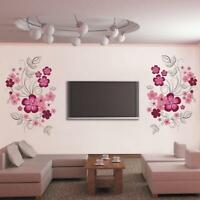 US STOCK Removable Wall Sticker Flower Vine Decal Mural Living Room Bed Room