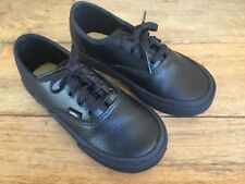 461319e15aad05 VANS OFF THE WALL ( TODDLER SIZE 10 ) BLACK LEATHER LACE UP SHOES PREOWNED