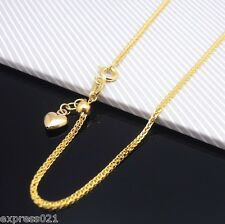 Authentic 18K Yellow Gold Necklace/ Rare Wheat Link Chain Necklace/ 2.5-3g
