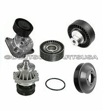 TIMING BELT TENSIONER WATER PUMP IDLER GUIDE PULLEY SET for BMW E34 E36 E39 6PC