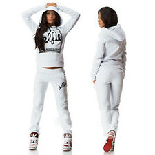 2017 Womens 2Pcs Tracksuit Hoodies Sweatshirt Pants Sets Sport Wear Casual Suit