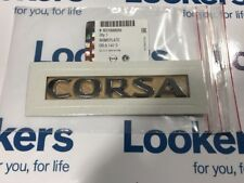 New Genuine Vauxhall Corsa E Rear Tailgate Badge Emblem 2015- 93188809