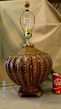 "1890M VINTAGE The Natural Light Co. 25"" Dark Wicker Table Lamp 3 Way Light EXC !"