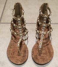 🍀BETTS 'Ripley' Open Toe Gladiator Sandals Ankle Strap As New Uk5 Us7