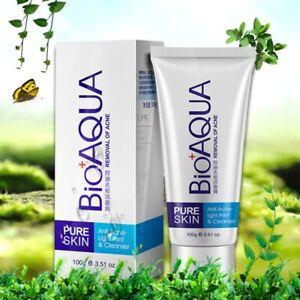Acne Treatment Facial Cleanser Black Head Remove Oil-Control Deep Cleansing 100g