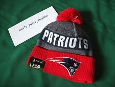 New England Patriots New Era knit pom hat beanie NEW Tags RARE REVERSE 2016 -17