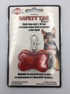 New Flashing Pet Dogs Bone Blinking Glow Light Safety LED Collar Pendant Tags