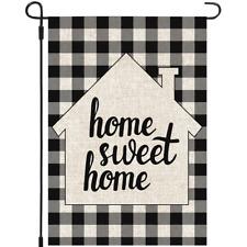 Mogarden Home Sweet Home Garden Flag, 12.5 x 18 Inch, Premium Burlap Yard Flag