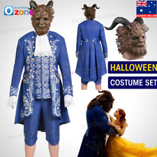 Halloween Movie Beauty and the Beast The Beast Prince Adam Cosplay Costume Mask