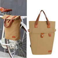 Tourbon Bike Pannier Bag Cycling Tote Case Canvas Saddle Pack Traveling USA Ship