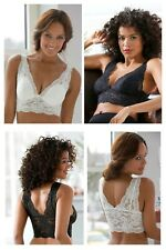 Twin Pack Cellbes of Sweden Non-Wired Pull On Pretty Lace Bralette 36 38