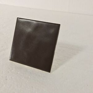 Brown Ceramic Florida Tile 4 in Ripple Matte Vintage Mid Century Modern Rippled