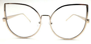 "Cat Eye LOVE ME OVERSIZED ""Princess"" Clear Lens Eyeglasses Punch Glasses BELINDA"