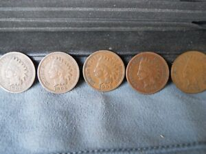 1902, 1903, 1905, 1906, 1907 Indian Head Pennies. Lots of Liberty on these