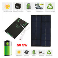 5W 5V USB Solar Panel Charger USB Port Cellphone Use Travel Portable